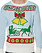 Adult Singing Light Up Jingle Bells Ugly Christmas Sweater