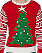 Adult Light Up Tree Ugly Christmas Sweater