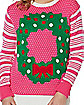 Adult Light Up Wreath Ugly Christmas Sweater