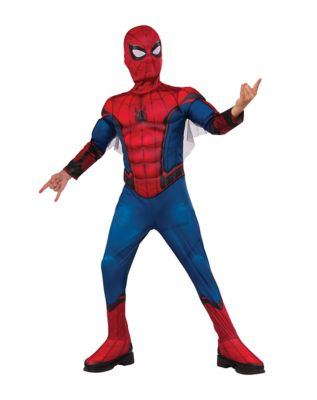 kids spider man one piece costume deluxe spider man homecoming - Halloween Express Kennesaw