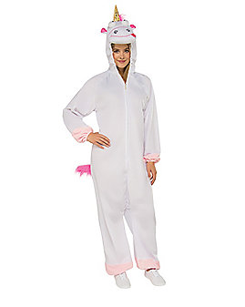 Adult Fluffy Unicorn Pajama Costume - Despicable Me 3