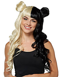 Blonde and Black Bun Wig