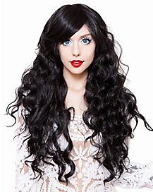 Long Black Wavy Wig
