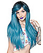 Dark Root Blue Wig