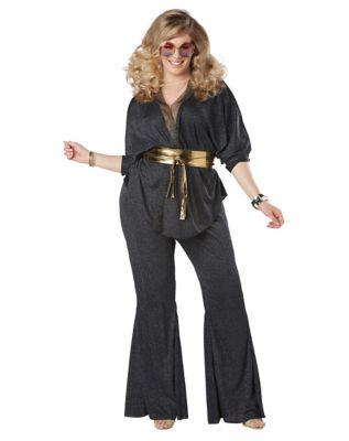 Vintage High Waisted Trousers, Sailor Pants, Jeans Adult Disco Dazzler Plus Size Costume by Spirit Halloween $54.99 AT vintagedancer.com