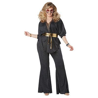 Retro Pants & Jeans Adult Disco Dazzler Plus Size Costume $54.99 AT vintagedancer.com