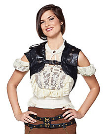 Black Steampunk Vest