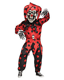 Adult Bobble Head Evil Jester Costume