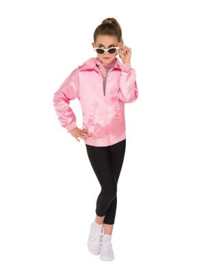 Kids 1950s Clothing & Costumes: Girls, Boys, Toddlers Kids Pink Ladies Jacket - Grease by Spirit Halloween $29.99 AT vintagedancer.com