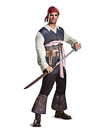 Adult Classic Captain Jack Costume - Pirates of the Caribbean
