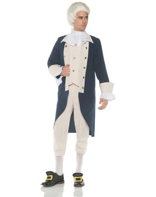 adult founding father plus size costume