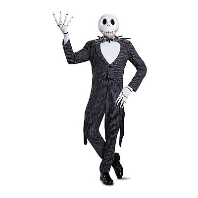 Steampunk Clothing- Men's Adult Jack Skellington Costume Theatrical - The Nightmare Before Chris $129.99 AT vintagedancer.com