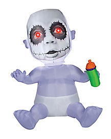 5.5 Ft Creepy Baby Animatronic Inflatable - Decorations