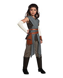 Kids Rey Costume Deluxe - Star Wars Episode 8  sc 1 st  Spirit Halloween : jar jar binks halloween costume  - Germanpascual.Com