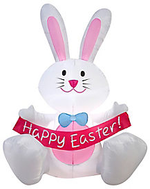 3.5 Ft Easter Bunny Inflatable - Decorations