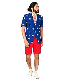 Adult Stars and Stripes Summer Suit