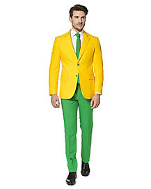 Adult Green and Gold Suit