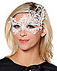 White Lace Half Mask