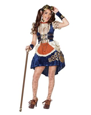 Steampunk Kids Costumes | Girl, Boy, Baby, Toddler Kids Steampunk Fashion Dress Costume - The Signature Collection by Spirit Halloween $59.99 AT vintagedancer.com