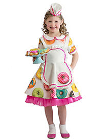 Kids Donut Waitress Costume - The Signature Collection