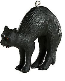 Black Cat Christmas Ornament