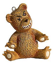 Scary Teddy Bear Christmas Ornament