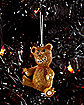 Scary Teddy Bear Christmas Ornament