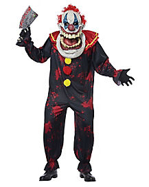 Adult Die Laughing Big Mouth Clown Costume - Deluxe