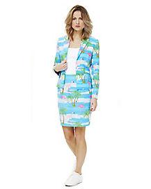 Adult Flamingirl Skirt Suit