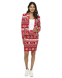 Adult Winter Wonderland Ugly Christmas Skirt Suit