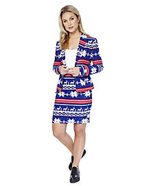Adult Miss Rudolph Ugly Christmas Skirt Suit
