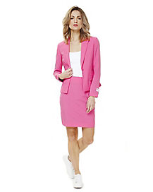 Adult Ms. Pink Skirt Suit