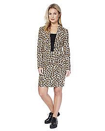Adult Lady Jaguar Skirt Suit