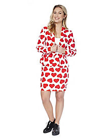 Adult Hearts Valentine's Day Skirt Suit
