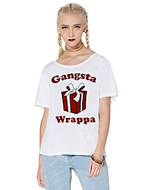 Gangsta Wrappa Christmas T Shirt