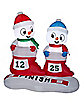4 Ft Light Up Racing Snowmen Inflatable - Decorations