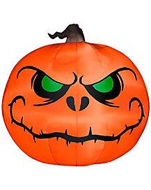 5 Ft Light Up Reaper Pumpkin Inflatable - Decorations