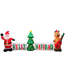 Light Up Feliz Navidad Inflatable