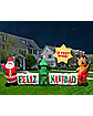 4 Ft Light Up Feliz Navidad Inflatable