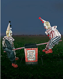 2.5 Ft Clown See-Saw Animatronics - Decorations