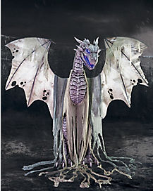 7 Ft Winter Dragon Animatronics - Decorations