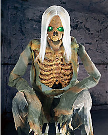 3 Ft Crouching Bones Animatronic - Decorations