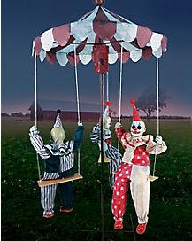 6 Ft Clown Go-Around Animatronics - Decorations