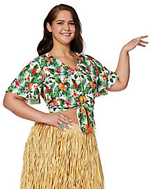 Plus Size Luau Shirt  sc 1 st  Spirit Halloween & Hawaiian Leis | Coconut Bra | Grass Skirts | Hula Skirts ...