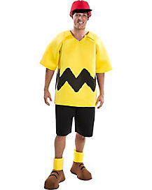 Adult Charlie Brown Costume Deluxe - Peanuts