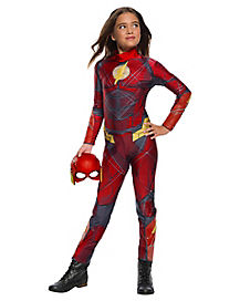 Kids The Flash Jumpsuit Costume - Justice League