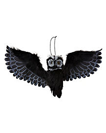 2.8 Ft Animated Black Owl - Decorations