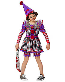 Killer Clown Halloween Costumes For Girls.Girls Clown Halloween Costumes Spirithalloween Com