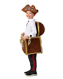 Kids Pirate Treasure Chest Candy Catcher Costume - The Signature Collection