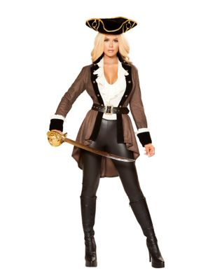 Steampunk Dresses | Women & Girl Costumes Adult Booty Diva Pirate Costume - The Signature Collection by Spirit Halloween $129.99 AT vintagedancer.com